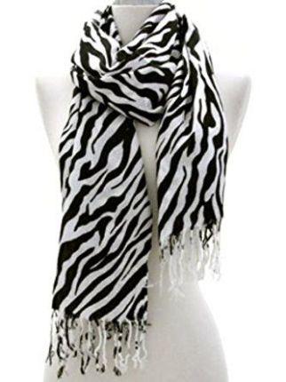 Zebra Print Scarf: $15.00
