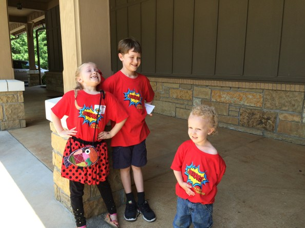 Superhero T Shirts on the last day of VBS