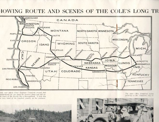 Cole Route for testing the Standardized Car
