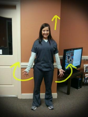 After: standing microbreak exercise