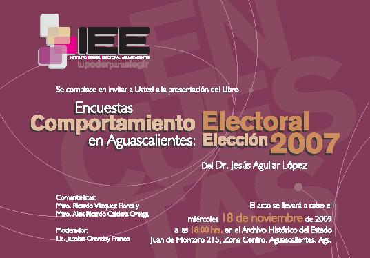 Comportamiento Electoral en Aguascalientes