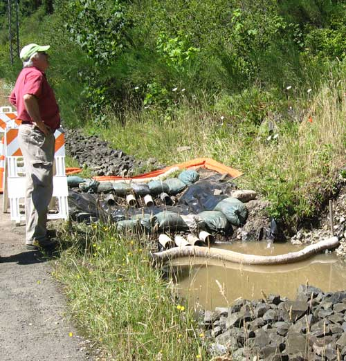 Dave Betts in the field at a stormwater spill response