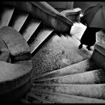 The Umbrella on the Stairs by Atilla Kefeli