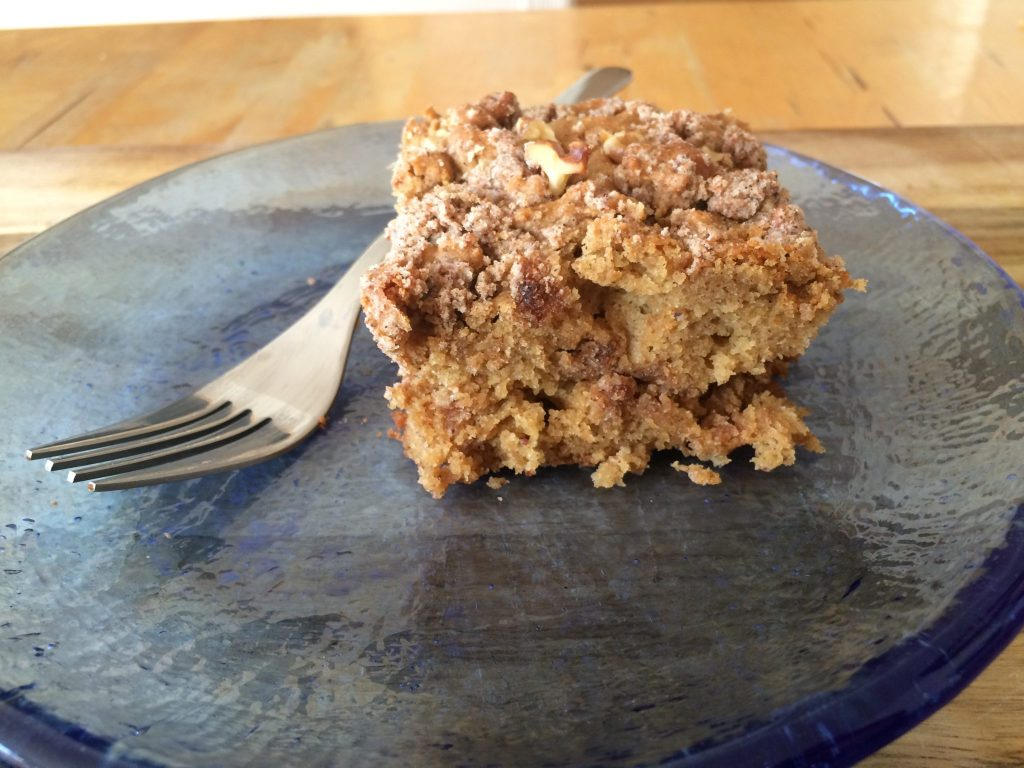Literal Coffee Cake with coffee grounds Coletti Coffee