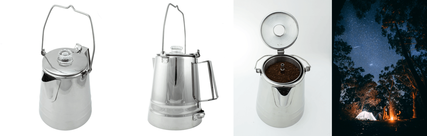14-cup stainless steel camping percolator Coletti Butte