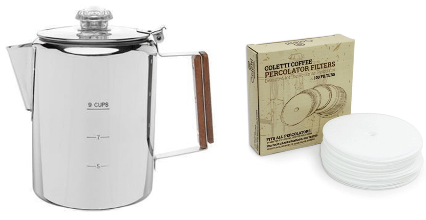 gift set percolator and filters