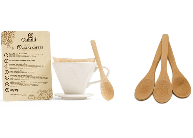 gift set pourover and bamboo mini spoons