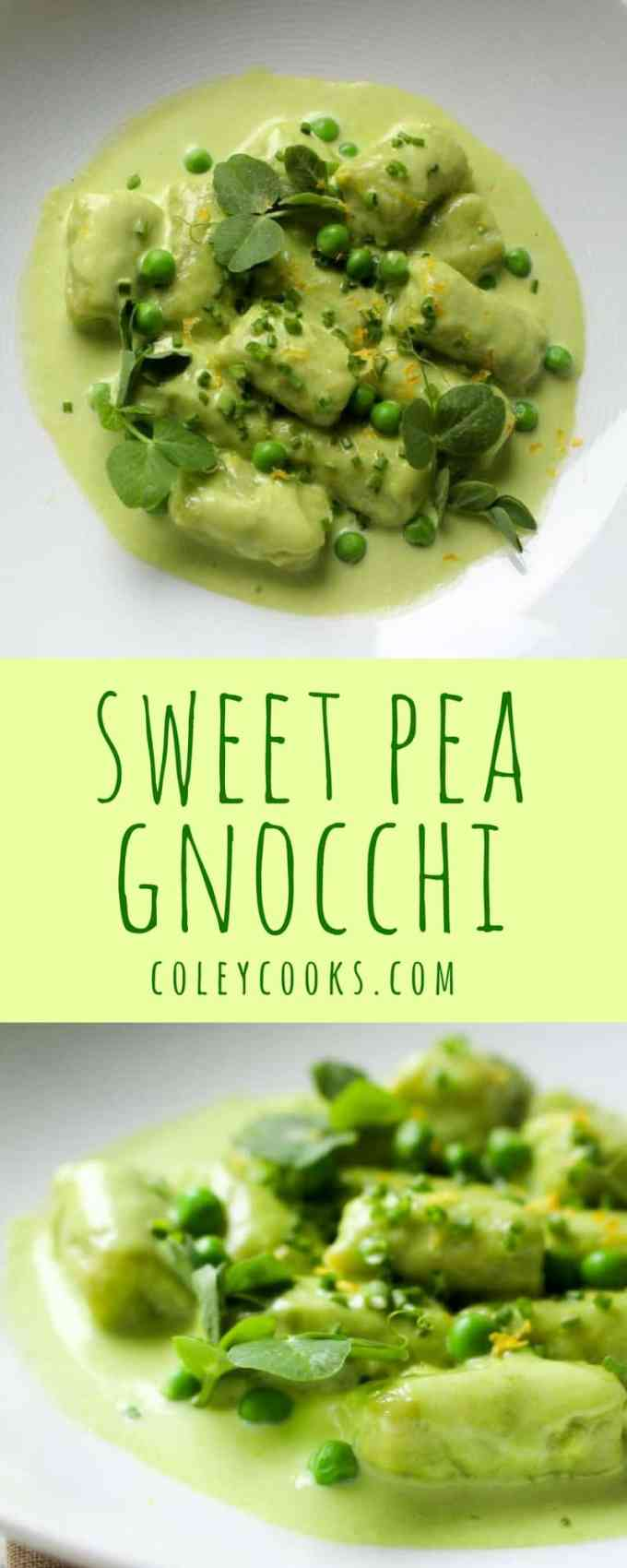 SWEET PEA GNOCCHI with Tarragon Pea Cream | A Beautiful Spring Recipe | ColeyCooks.com