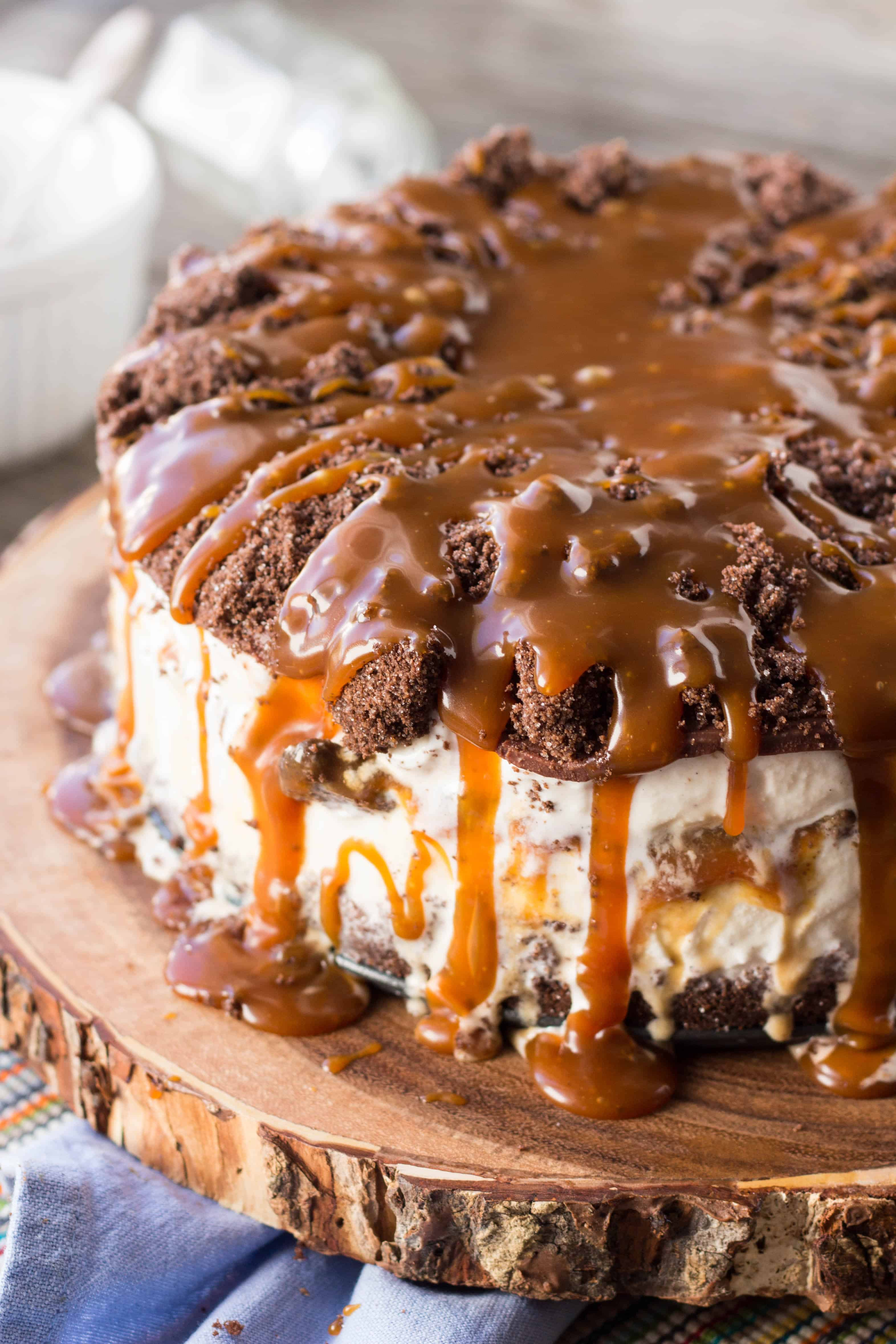 Brownie And Salted Caramel Layer Cake