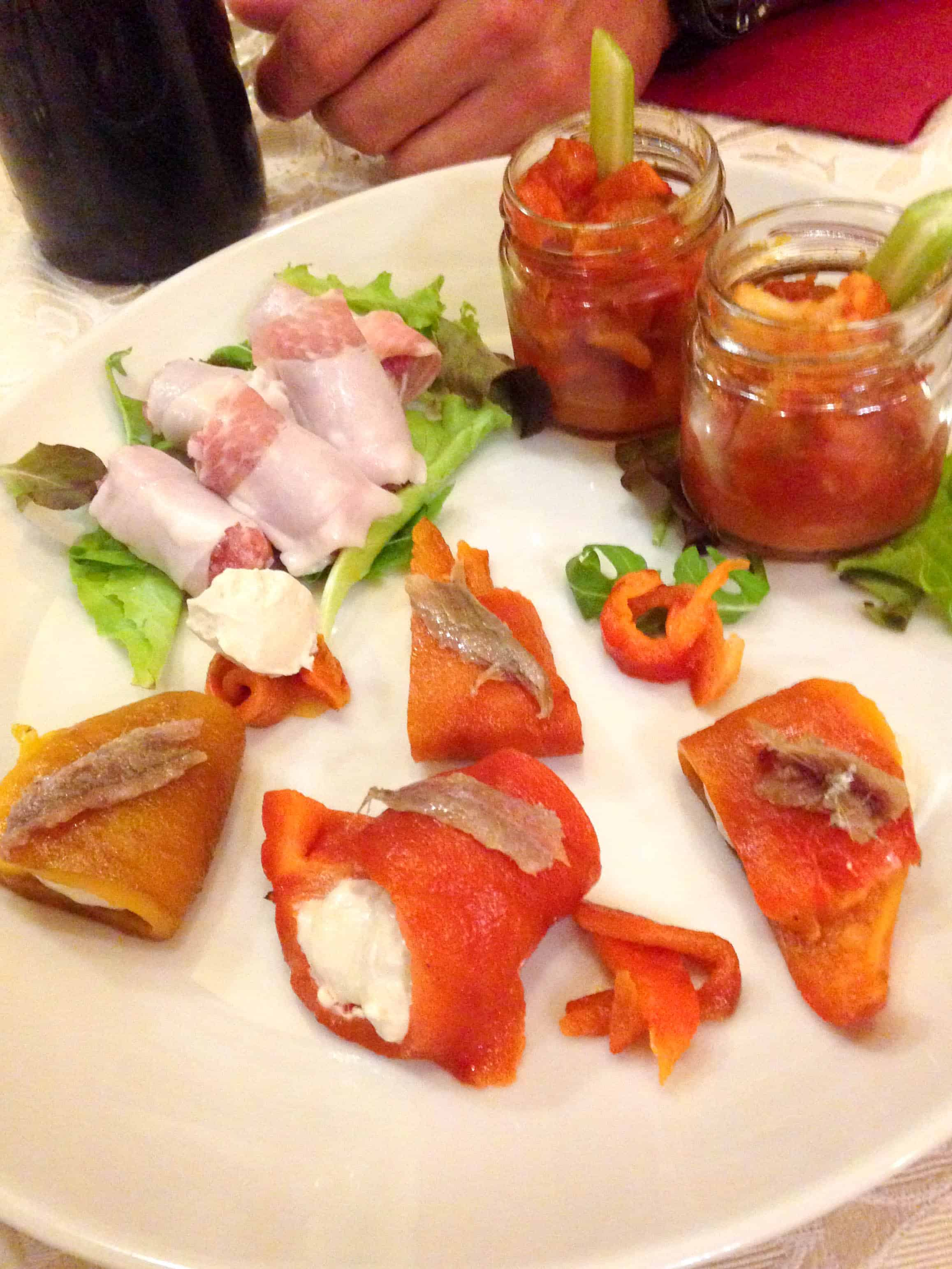 Assorted Antipasto in Torino, Italy