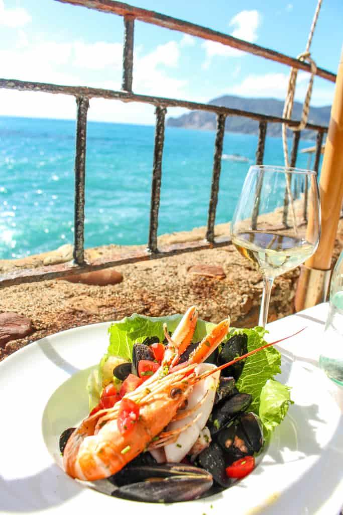 Seafood Salad in Vernazza, Cinque Terre, Italy