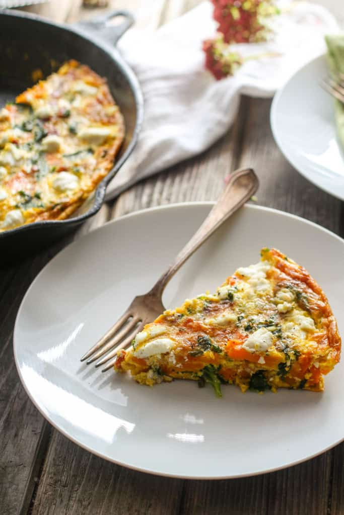 Butternut Squash, Bacon, Kale + Goat Cheese Frittata