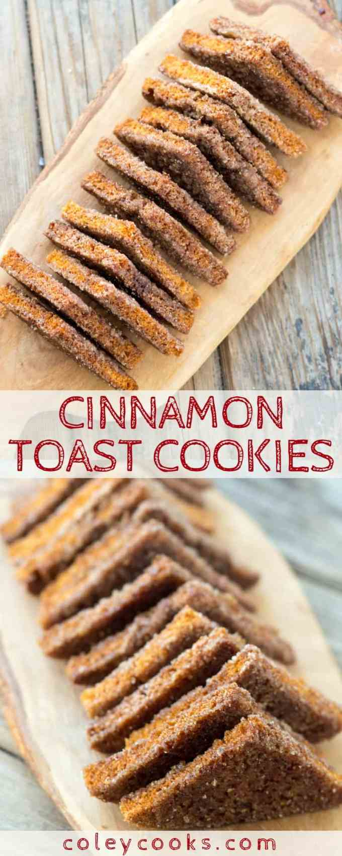 These unusual cookies are super buttery and sweetened with cinnamon sugar. They taste like the best cinnamon toast from your childhood. Must make!