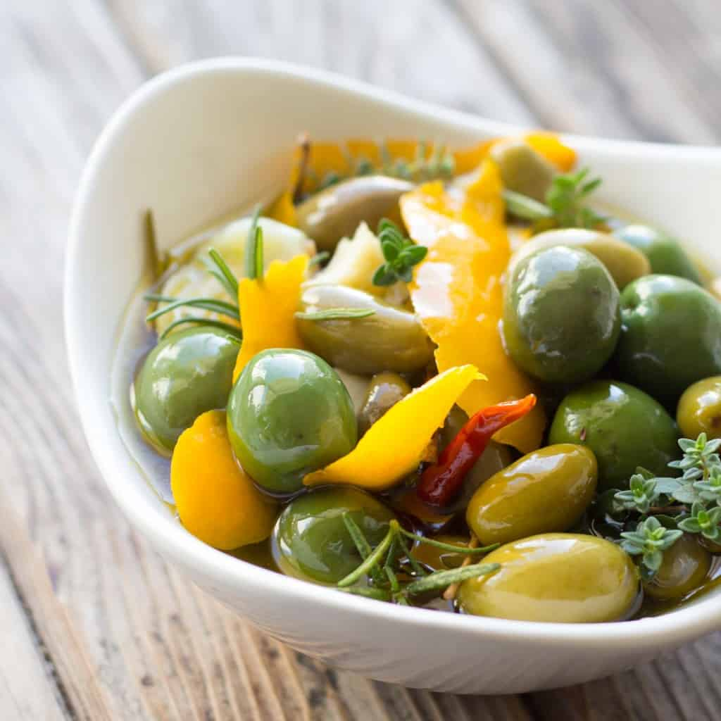 Meyer Lemon marinated olives