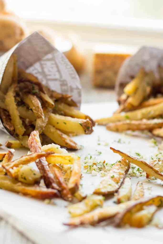 Oven Baked Parmesan Truffle Fries