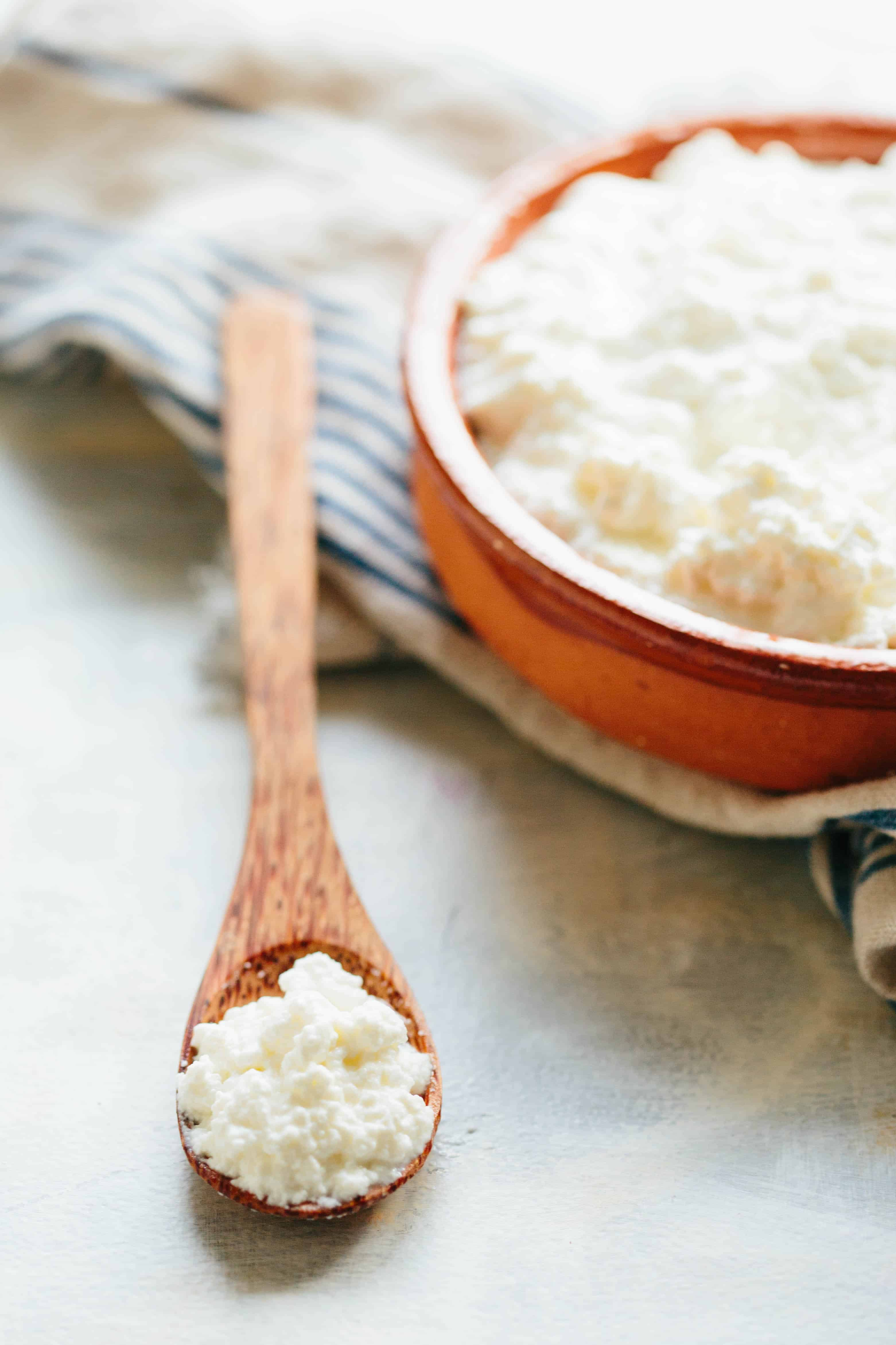 EASY HOMEMADE RICOTTA CHEESE | Foolproof method for making the creamiest, most delicious homemade ricotta cheese. This recipe uses buttermilk for the best flavor. | #easy #ricotta #cheese #recipe #Italian #method #foolproof #homemade | ColeyCooks.com
