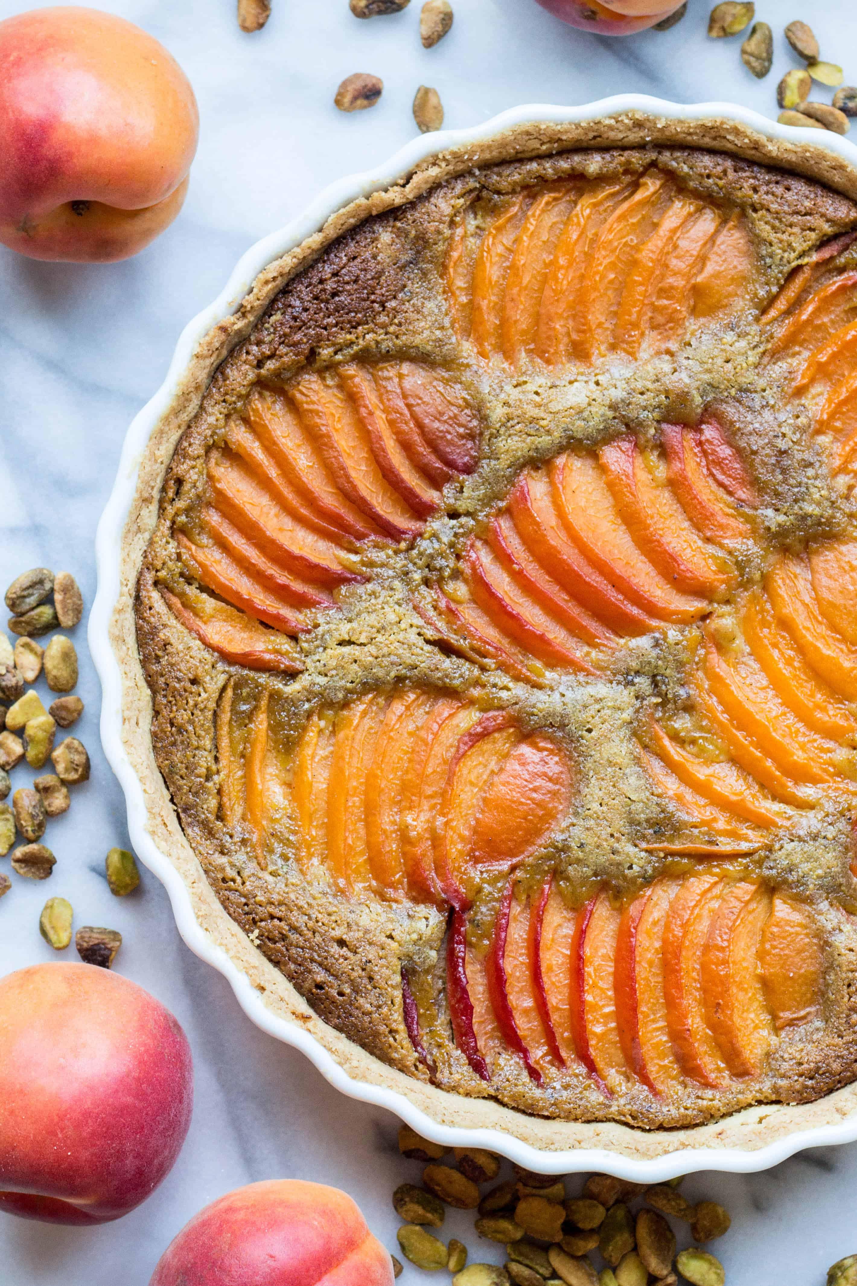 Apricot Pistachio Tart