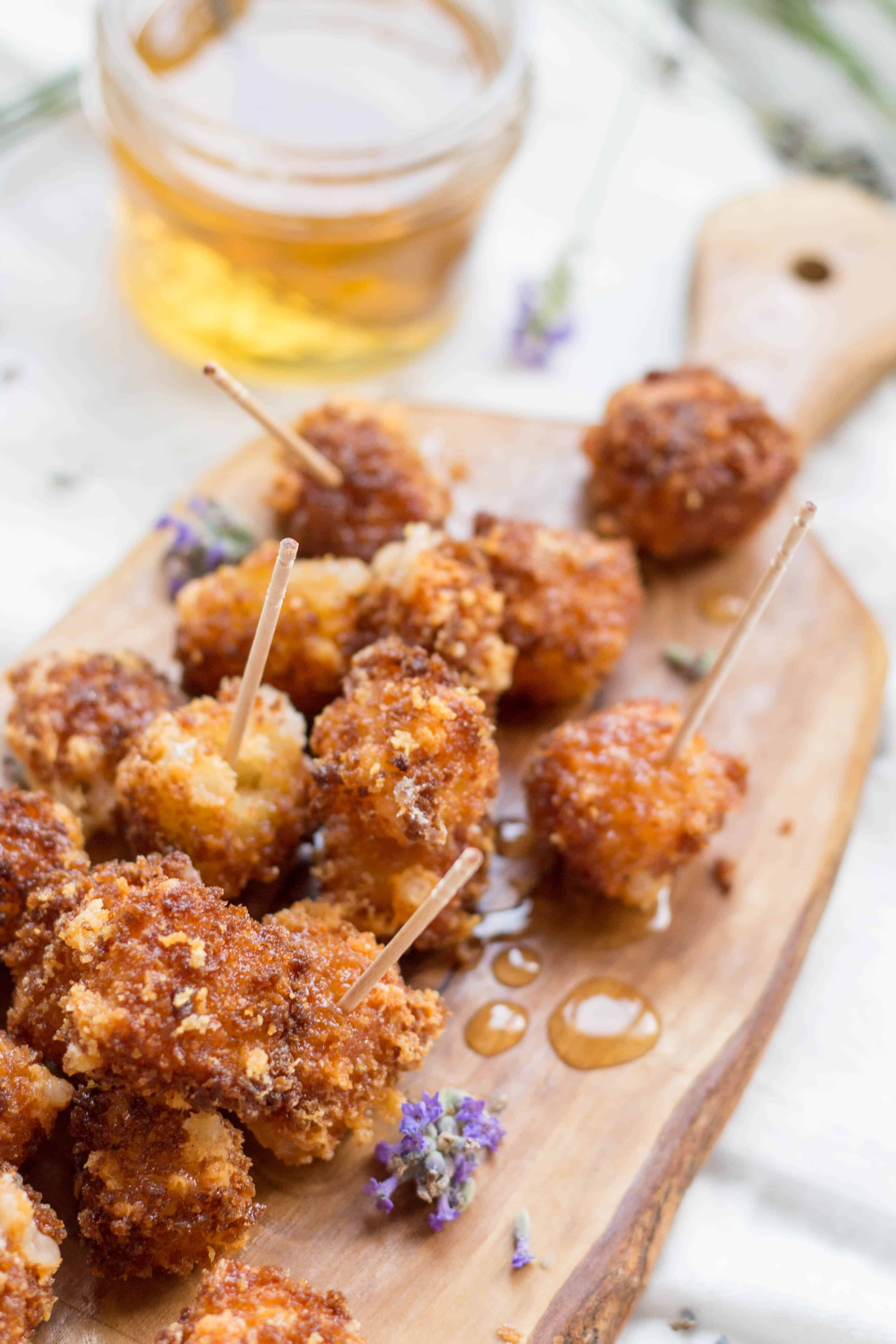 Fried Manchego Cheese with Lavender Honey (Video!)