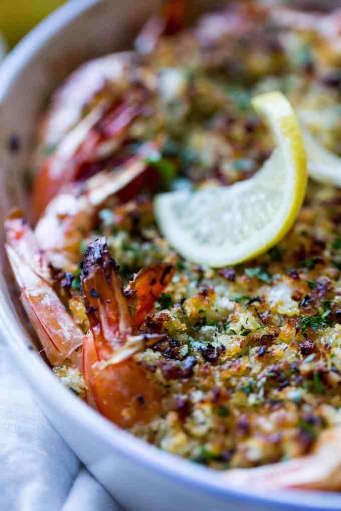 Quick, Easy, Delicious: Baked Shrimp Scampi {recipe + video) | ColeyCooks.com