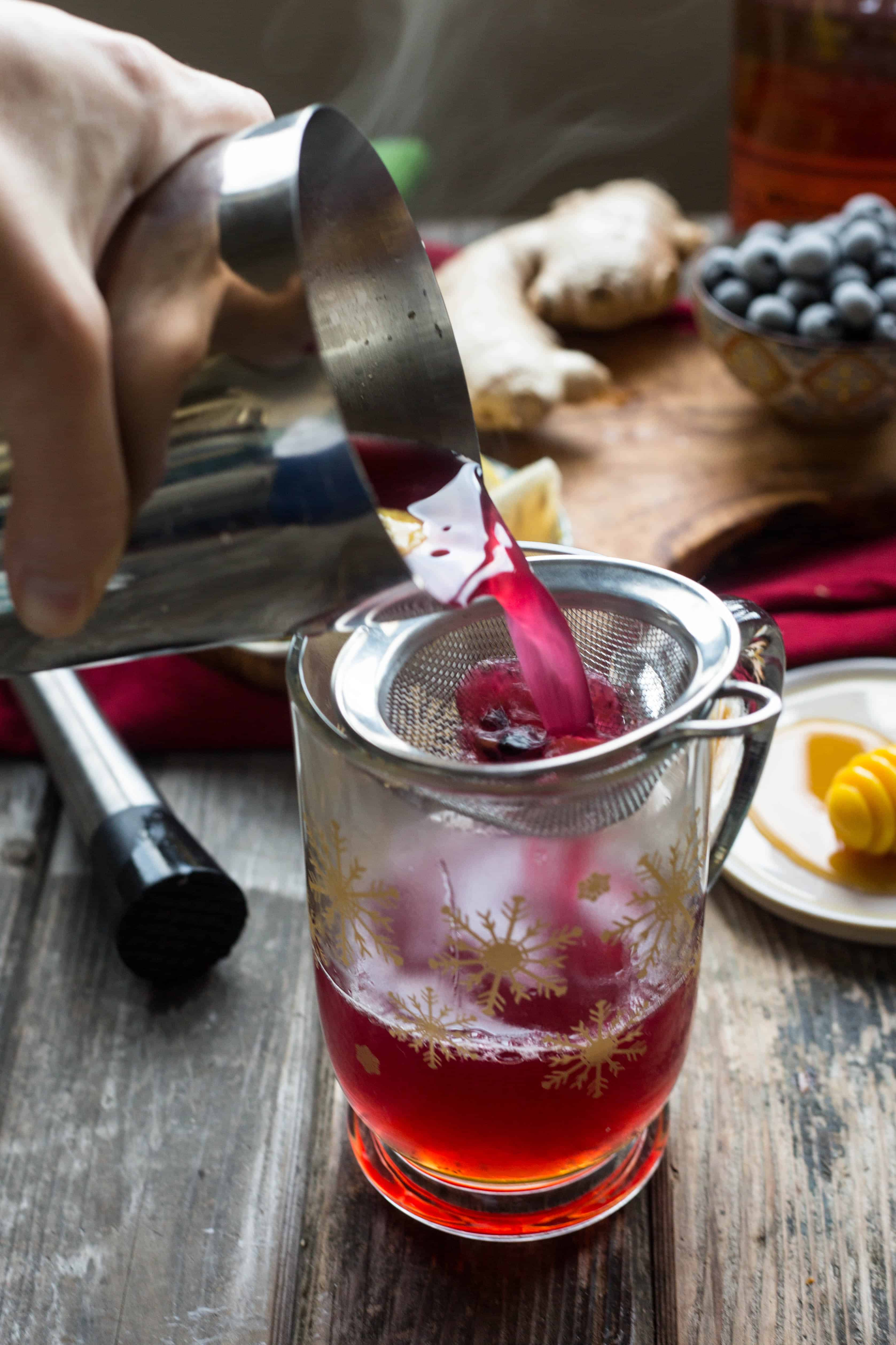 Blueberry Ginger Hot Toddy