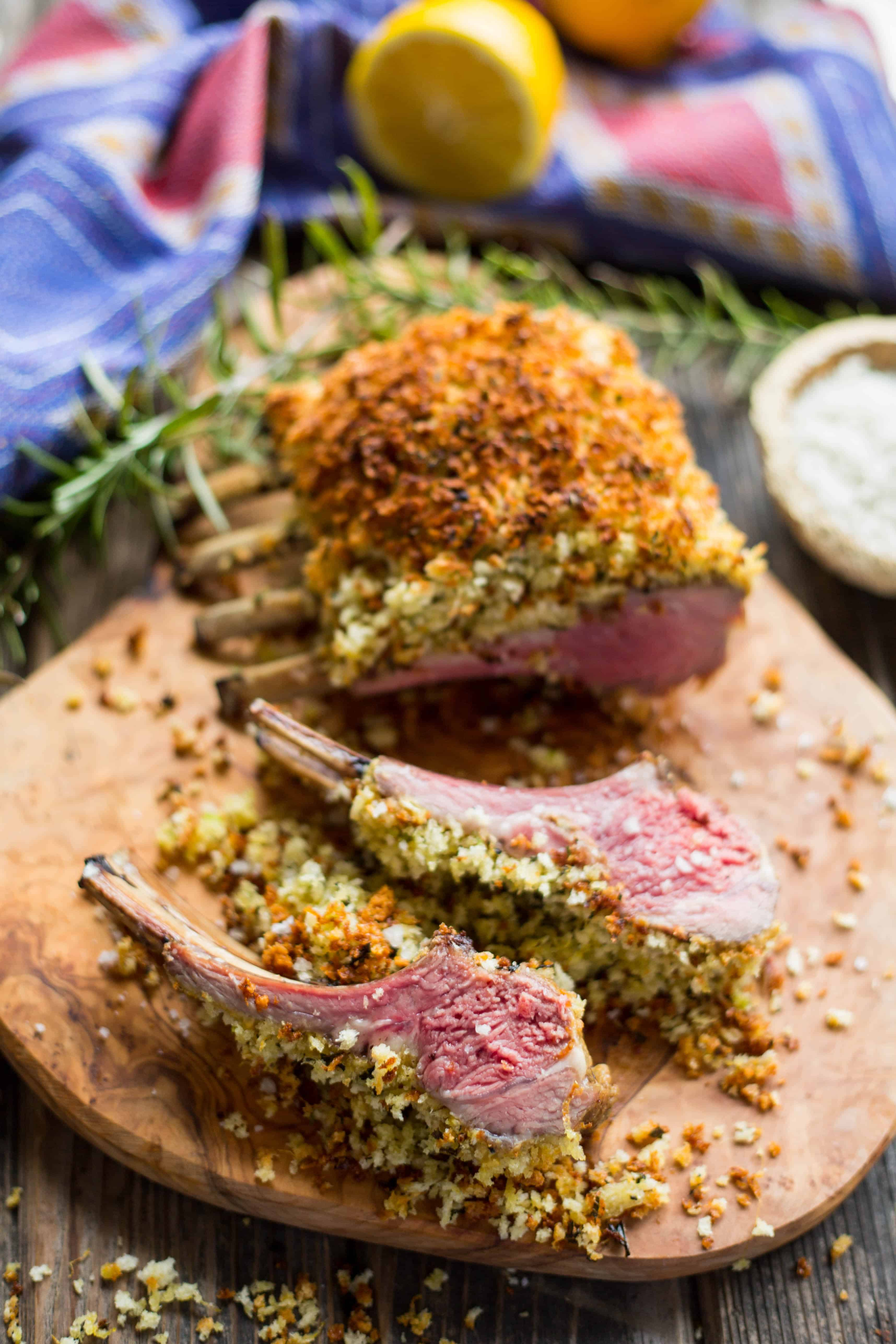 Dijon Herb Crusted Rack of Lamb
