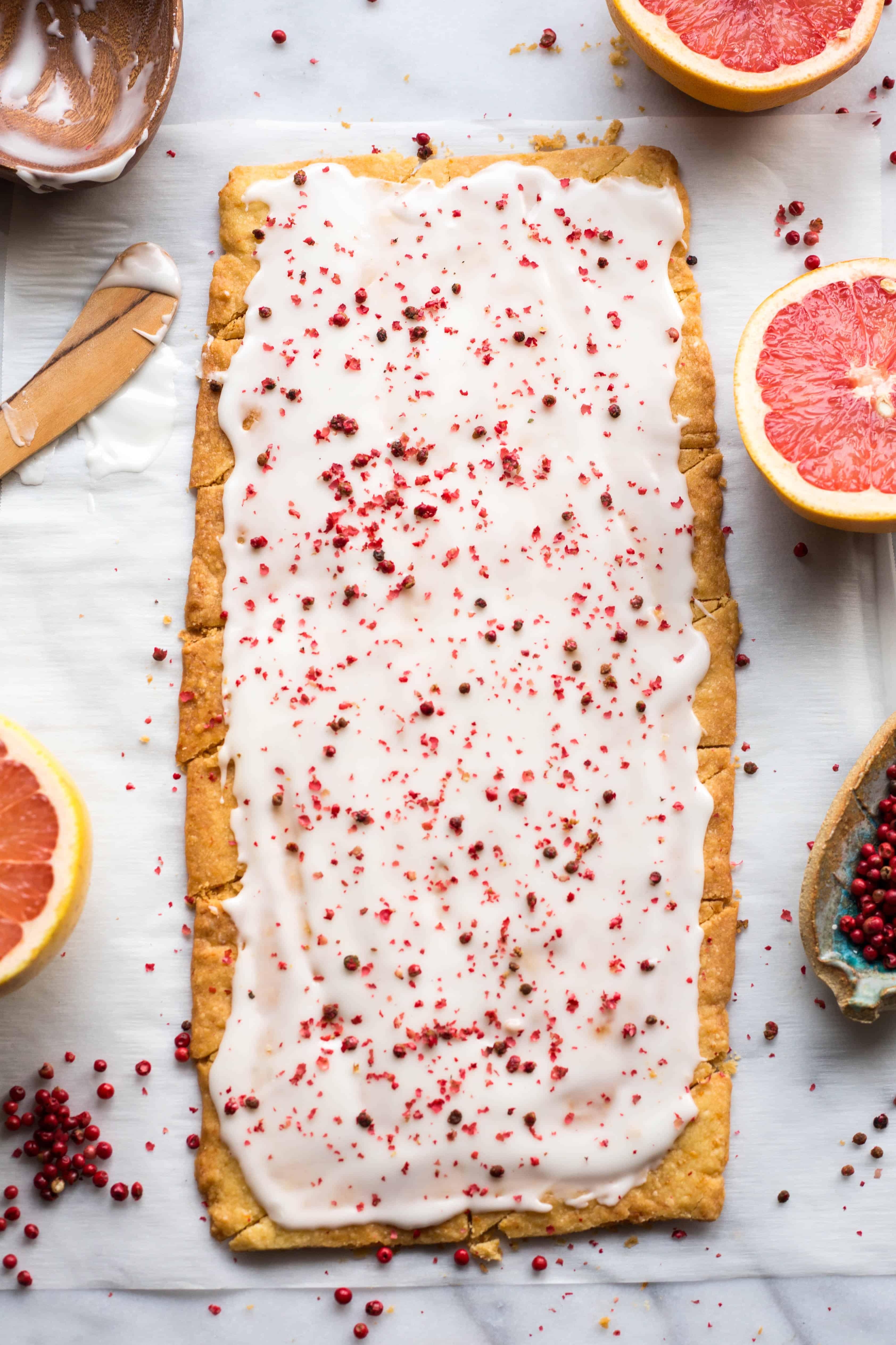 Pink Grapefruit Shortbread Cookies