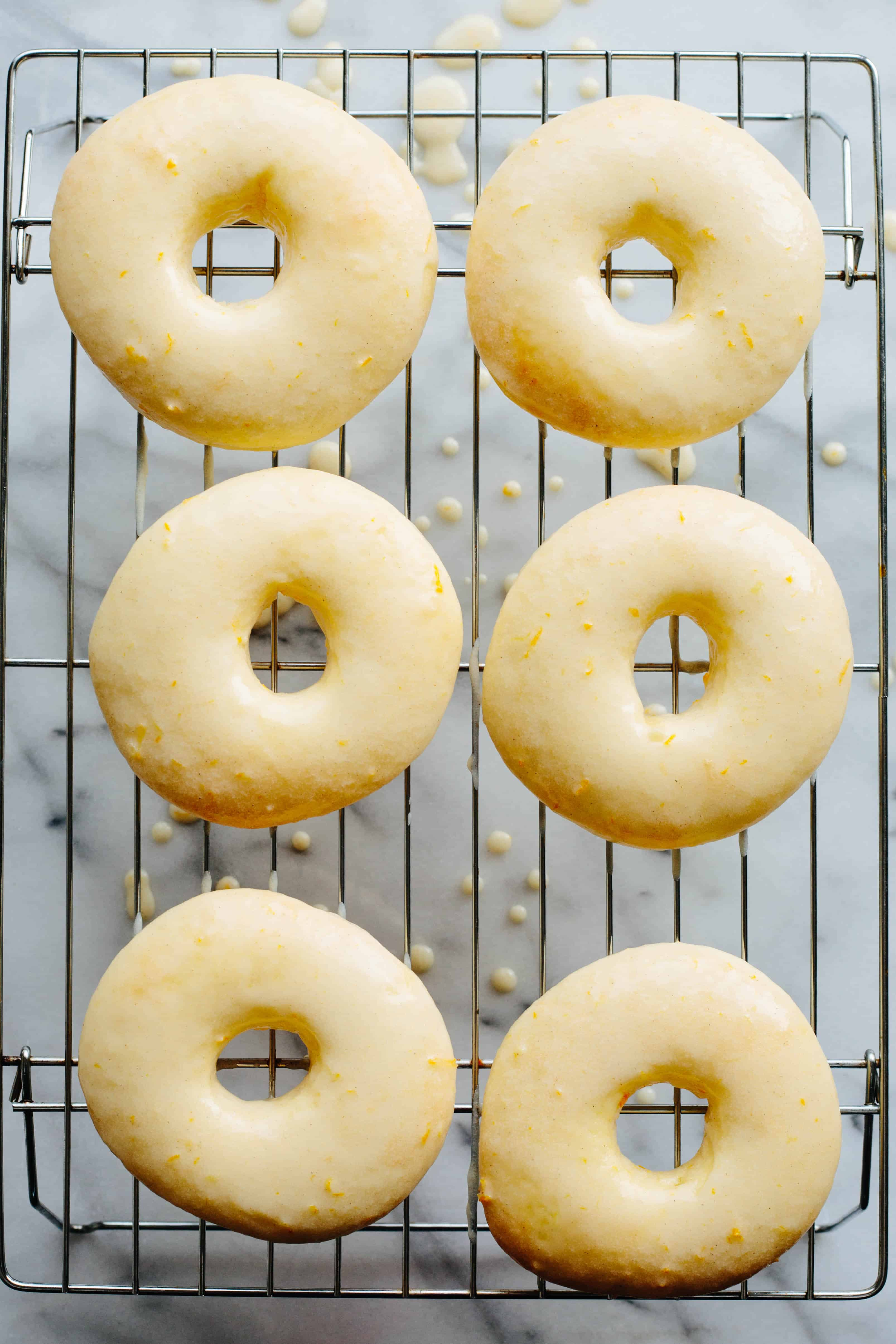 Meyer Lemon Baked Doughnuts: Yeast-Risen BAKED Doughnuts with a tangy Meyer Lemon Glaze | Coley Cooks!