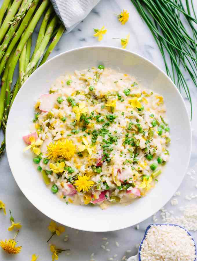 Spring Vegetable Risotto (Video!)   ColeyCooks.com