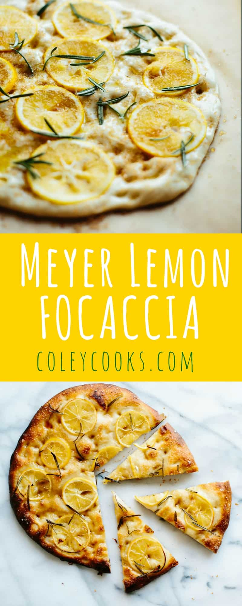 MEYER LEMON FOCACCIA | ColeyCooks.com | Salty, Sweet, Tangy, Pillowy Soft + Totally Addictive!