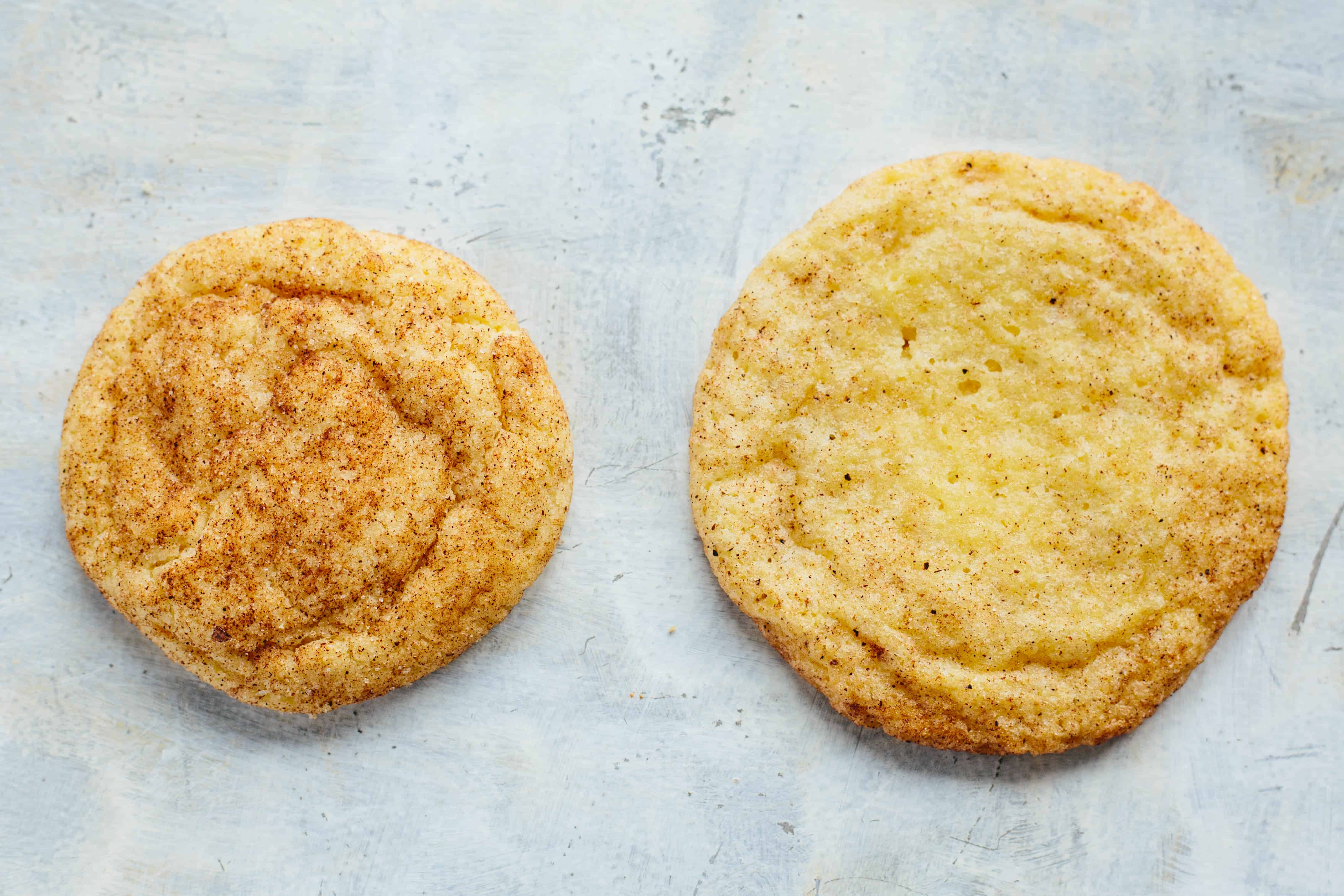 These Chai Snickerdoodles are a fun twist on this classic cookie! A fragrant mix of spices replaces the traditional cinnamon for a chewy cookie that tastes just like a cup of chai tea! #easy #christmas #cookie #recipe #chai #tea #snickerdoodle #dessert