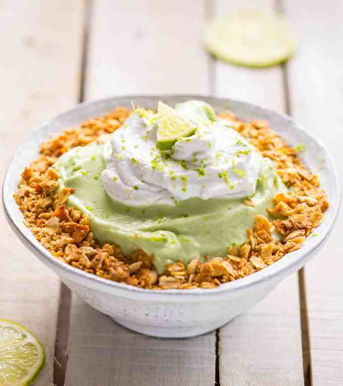 The Art of the Smoothie Bowl by Nicole Gaffney - Key Lime Pie Smoothie Bowl