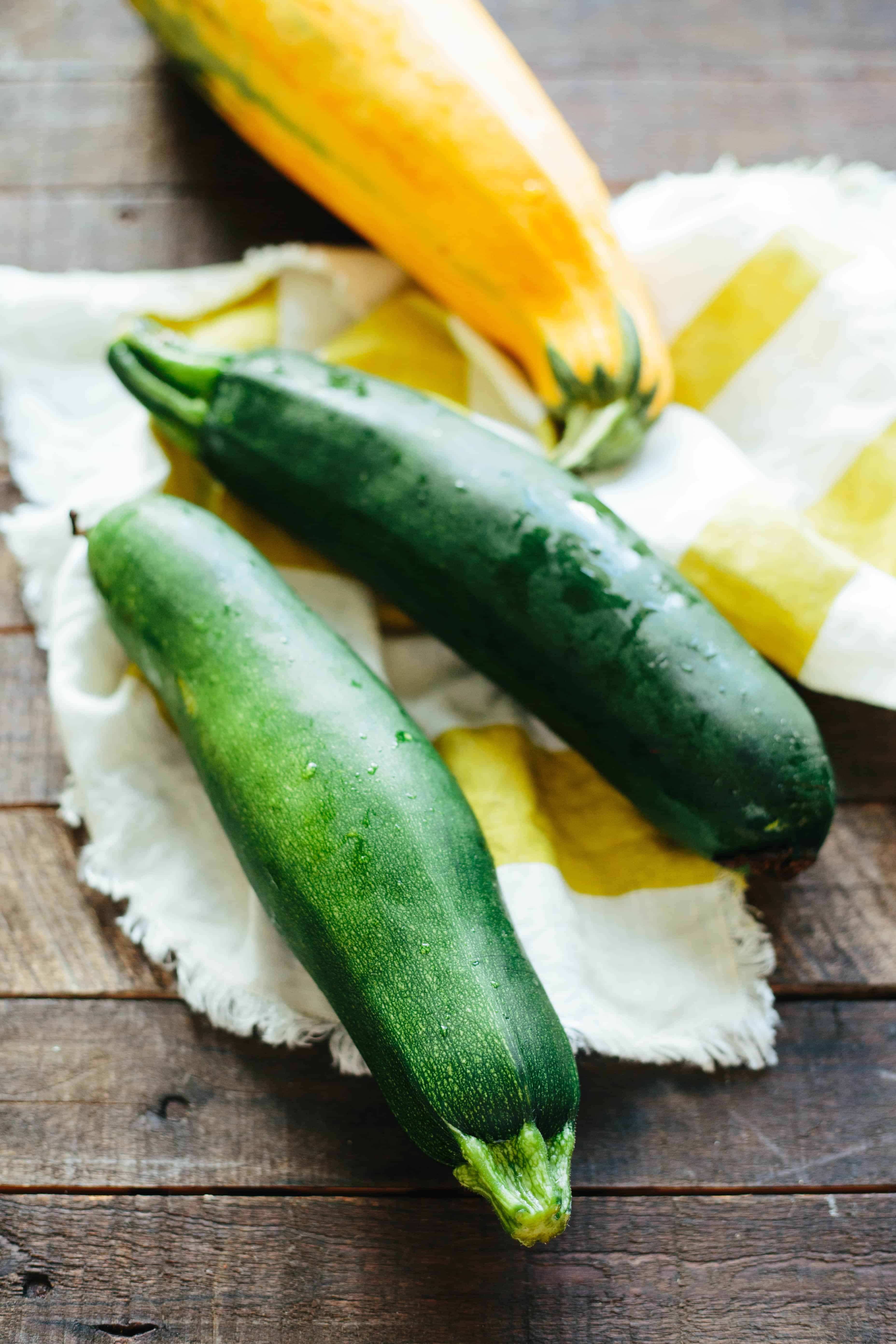 Zucchini with Vinegar and Mint, known as Zucchini alle Scapece in Naples and Concia in Rome, is a simple Italian side dish made with only 5 ingredients. Vegan, gluten free and SO GOOD! #easy #zucchini #italian #side #recipe   ColeyCooks.com