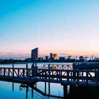 Brigantine sunset on the bay