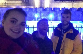 Ice Skating at Tower of London