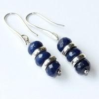 Navy Blue Earrings 57 Navy Earrings Gold Blue Swarovski ...