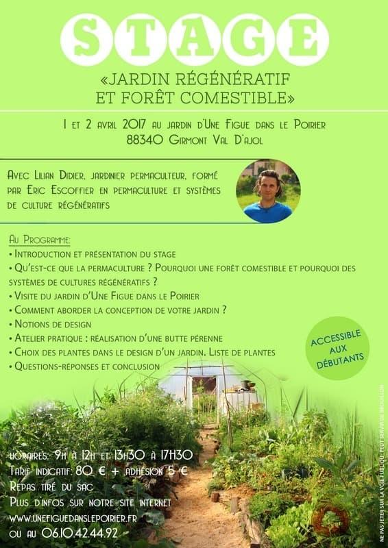 Stage Permaculture Jardin Regeneratif Et Foret Comestible