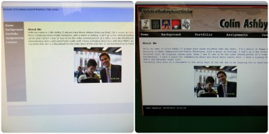 Site Redesign: Before/After (for Web Design & Publishing class)