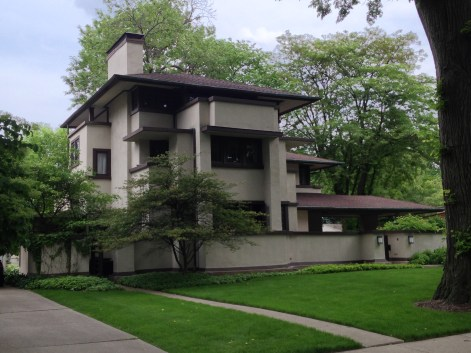 You can really see the Japanese influence on Frank Lloyd Wright's buildings...