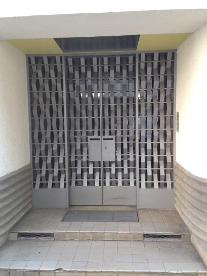 Security grille on Rue Mallet-Stevens