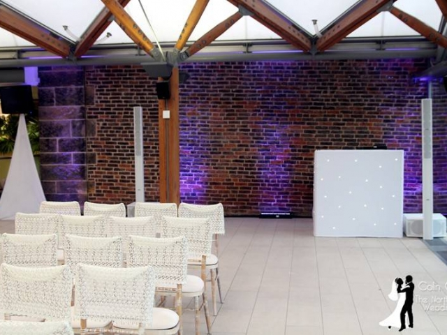 Set up for a Wedding Ceremony at Alnwick Garden