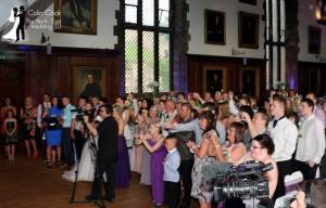 First Dance at Durham Castle evening Wedding Reception Disco