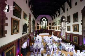 The Great Hall at Durham Castle during the daytime just prior to guests arriving.