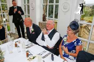 Colin as Master of Ceremonies at a Woodhill Hall Wedding