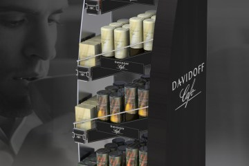 Davidoff Cafe Retail Floor Display