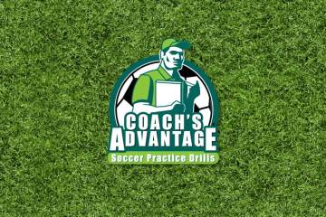Coach's Advantage Soccer Practice books. Sports logo.