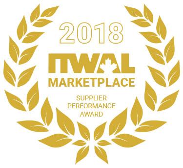 2018 ITWAL Supplier Performance Award regalia