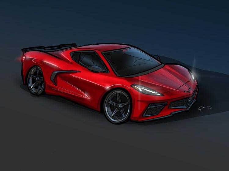 2020 Corvette C8 painting