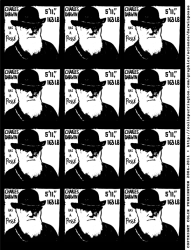 charles darwin, evolution, science, sticker, has a posse