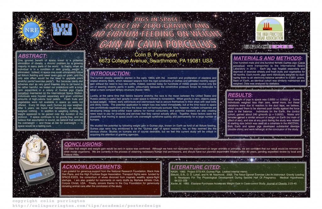 Example of bad scientific poster (copyright colin purrington)