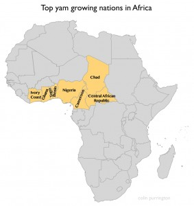 Yam producing nations in Africa
